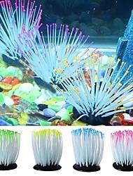 cheap -Aquarium Luminous Simulation Plant Decoration Sea Anemone Fish Tank High Equipment Artificial Aquarium Plant Fishing Accessories