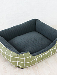 cheap -Dog Cat Pets Beds Plaid / Check Breathable Warm Soft Washable Durable Fabric Cotton for Large Medium Small Dogs and Cats