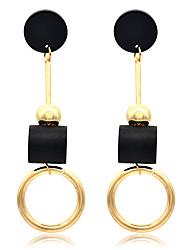 cheap -Women's Drop Earrings Hoop Earrings Dangle Earrings Drop Holiday Fashion Birthday Stylish Punk Resin Earrings Jewelry Gold For Gift Date Vacation Birthday Festival 1 Pair / Jacket Earrings