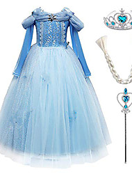 cheap -dress deluxe princess butterfly costume birthday party festival dress cocktail dress disguise halloween cosplay fancy party outfit princess dress up blue + accessories 4-5 years