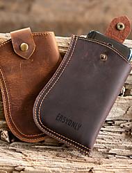 cheap -men edc genuine leather 6.5 inch phone holder phone case waist bag belt sheath
