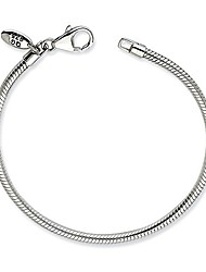"""cheap -Silver Anklet Reflections Lobster Clasp Bead Bracelet 9"""" - with Secure Lobster Lock Clasp (2mm)"""