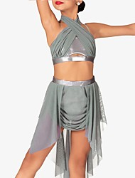 cheap -Tutu Dress Skirts Sash / Ribbon Ruching Solid Girls' Training Performance Sleeveless Tulle