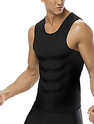 cheap -men's sauna vest neoprene tank tops sweat gymnastics fat burning for bodybuilding fitness (m, black-black)