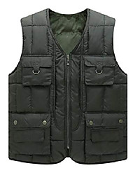 cheap -Men's Casual Outdoor Fleece Lined Quilted Alternative Down Vest Jacket (Large, Army Green)