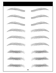 cheap -10 sheets 6d eyebrow stickers waterproof eyebrow tattoo stickers water transfer net red 3d imitation ecological eyebrow stickers