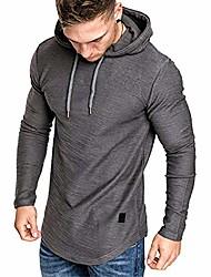 cheap -mens casual fashion athletic hoodies - sport sweatshirt workout lightweight fleece pullover long sleeve