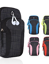 cheap -Unisex Bags Polyester Mobile Phone Bag Zipper Grid / Plaid 2021 Daily Outdoor Black Blue Red Blushing Pink