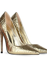 cheap -Women's Wedding Shoes Stiletto Heel Pointed Toe Wedding Pumps Wedding Daily PU Synthetics Gold Silver