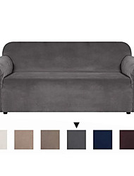 cheap -Sofa Cover Solid Colored Flocking 100%Polyester Faux Suede Slipcovers