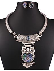 cheap -Women's Jewelry Set Retro Owl Fashion Earrings Jewelry Silver For Anniversary Street Gift Festival 1 set