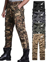 cheap -Men Cargo Pants with Pockets,Cotton Outdoor Casual Ripstop Camo Military Combat Construction Work