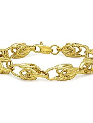 cheap -9mm Textured 0.25 mils (6 microns) 14k Yellow Gold Plated Hollow Chain Link Bracelet, 9 inches