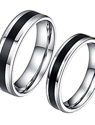 cheap -Jewellery Mens Stainless Steel Couples Promise Ring Size Y