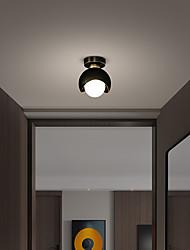 cheap -15 cm Globe Design Flush Mount Lights Copper LED Nordic Style 110-120V 220-240V