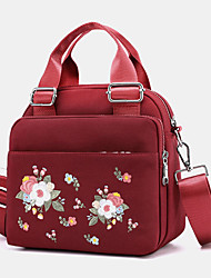 cheap -women light weight flower embroidered crossbody bag