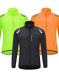 cheap -WOSAWE Men's Cycling Jacket Summer Bike Jacket Tracksuit Windbreaker Waterproof Windproof Breathable Sports Solid Color Fluorescent Black / Orange / Green Clothing Apparel Loose Bike Wear Waterproof