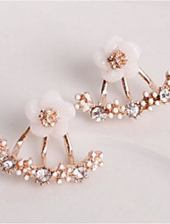 cheap -Women's Stud Earrings Geometrical Petal Fashion Earrings Jewelry Rose Gold / Gold / Silver For Christmas Party Evening Street Gift Date 1 Pair