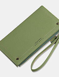 cheap -women 12 card slots hand strap long wallet purse