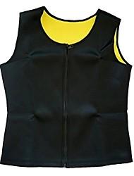 cheap -Men's Zipper Body Shaper Workout Tank Top Slimming Neoprene Vest for Weight Loss Tummy Fat, Black 2, US L = Tag XL