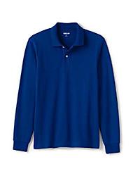 cheap -Mens Comfort First Mesh Polo Long Sleeve Solid Cool Cobalt Regular