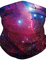 cheap -Unisex Multifunctional Headscarf Against Wind Dust Sun Protection Jogging Running Headwear Seamless 3D Printing Starry Sky Pattern Tubular Sports Scarves for Outdoor Cycling Motorcycle