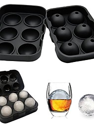 cheap -6 Ball Ice Cube Tray Maker Silicone Mold Leak Proof Closure Silicone Ice Cube Tray