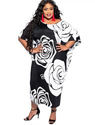 cheap -Women's Plus Size Dress Cheongsam Dress Knee Length Dress Half Sleeve Plaid Chinoiserie All Seasons