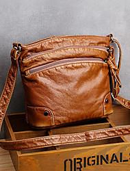 cheap -women solid multi-pocket middle-aged crossbody bag shoulder bag