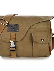 cheap -mens vintage canvas outdoor messenger shoulder crossbody bag