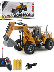 cheap -mini remote control dump rc toy, 1/64 scale engineering vehicle car toy, 4 channel construction toy car heavy duty rc truck for kids boys and girl