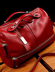 cheap -fashion women genuine leather tote handbag pillow shoulder crossbody satchel bag