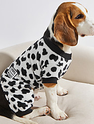 cheap -Fitwarm Adorable Milk Cows Pet Dog Clothes Comfy Velvet Winter Pajamas Coat Jumpsuit for Girl and Boy Dog Coral Fleece XL
