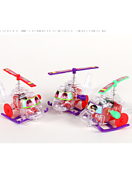 cheap -Small Plane Helicopter Helicopter Transparent Novelty Plastic Adults Children's All Toy Gift 1 pcs