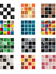 cheap -10 Pcs Vintage  Self-Adhesive Square Peel and Stick Non-Slip Waterproof Removable PVC Bathroom Kitchen Home Decor Floor Wall Stair Tile Sticker 10x10cm
