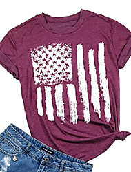 cheap -women's american flag shirt patriotic stars stripes t shirt top women short sleeve casual graphic print tee shirt (m, red)