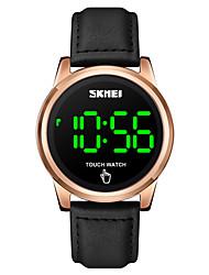 cheap -SKMEI Men's Digital Watch Digital Digital Stylish LED Light Shock Resistant Noctilucent / One Year / Leather