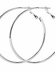 cheap -Gold Hoop Women Silver Earrings (SILVER)