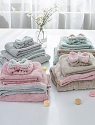 cheap -Coral Fleece Bath Towel Female Quick-drying Absorbent Bath Skirt Dry Hair Cap Tube Top Bathrobe Four Set