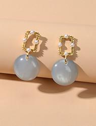 cheap -Women's Drop Earrings Dangle Earrings Geometrical Cute Imitation Pearl Earrings Jewelry Gray For Date Festival