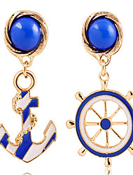 cheap -Women's Drop Earrings Classic Anchor Stylish Earrings Jewelry Gold For Street Date Vacation Festival 1 Pair