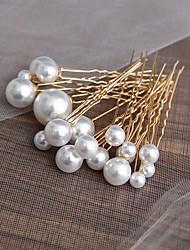 cheap -Elegant Bridal Imitation Pearl / Alloy Headdress with Imitation Pearl 18 Wedding / Special Occasion Headpiece