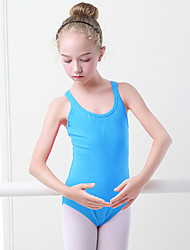 cheap -Ballet Leotard / Onesie Solid Girls' Training Performance Sleeveless High Spandex