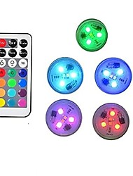 cheap -5pcs Remote Controlled RGB Submersible Light Battery Operated Underwater Night Lamp Vase Bowl Outdoor Garden Wedding Party Decoration