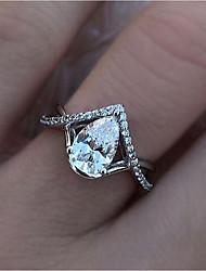 cheap -Band Ring Cubic Zirconia White Rhinestone Alloy Heart Elegant Fashion 1pc 6 7 8 9 10 / Women's