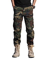 cheap -Men's Hunting Pants Tactical Cargo Pants Hiking Pants Trousers Waterproof Ventilation Quick Dry Breathable Fall Spring Camo / Camouflage Cotton for Jungle camouflage ACU CP M L XL XXL
