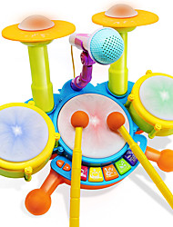 cheap -Electric Drum Set Plastic Cartoon Boys' Girls' Toy Gift