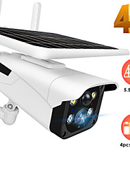 cheap -Y4P 2 mp Solar Camera 1080P HD Solar Powered Wireless WIFI IP Camera Outdoor Infrared Night Vision Waterproof Security Surveillance Camera Support 64 GB / Android