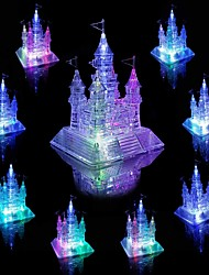 cheap -Model Building Kit 3D Crystal Jigsaw Puzzle Crystal Glow Glitter Shine Architecture Castle Plastics Plastic 105 pcs Kid's Adults' Girls' Toy Gift / Music & Light