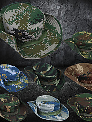 cheap -Men's Sun Hat Bucket Hat Fishing Hat Outdoor UV Sun Protection Windproof UPF50+ Quick Dry Spring Summer Hat Hunting Fishing Outdoor Exercise Camouflage Color Camouflage Blue Jungle camouflage